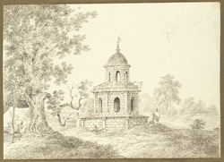 Hindu religious building on the road between Kotalpur and Jaypur (Bengal). 28 January 1823
